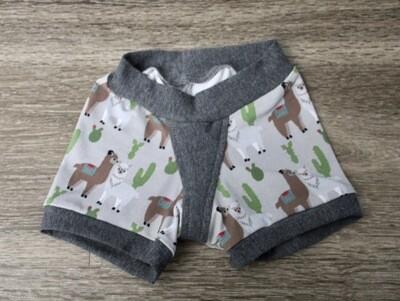 Size 4 Girl's Boxers - Llamas