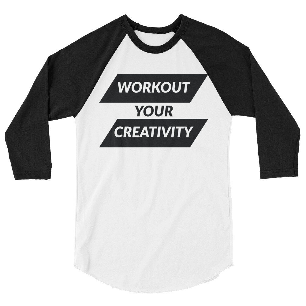 Workout 3/4 sleeve raglan shirt