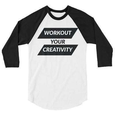 Workout 3/4 sleeve raglan shirt