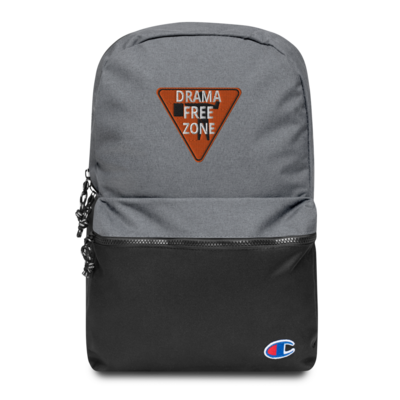 Drama Free Zone Embroidered Champion Backpack