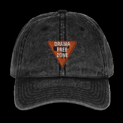 DRAMA FREE ZONE Vintage Cotton Twill Cap