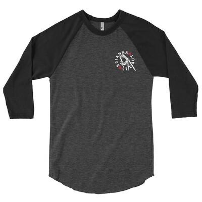 3/4 sleeve raglan shirt - hand