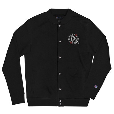 Embroidered Champion Bomber Jacket - hand