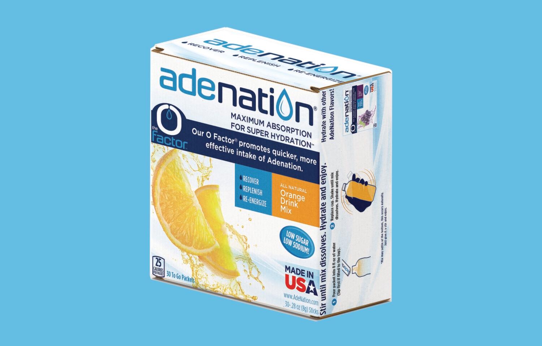 AdeNation® Hydration Sticks - Orange - 30 Count Box