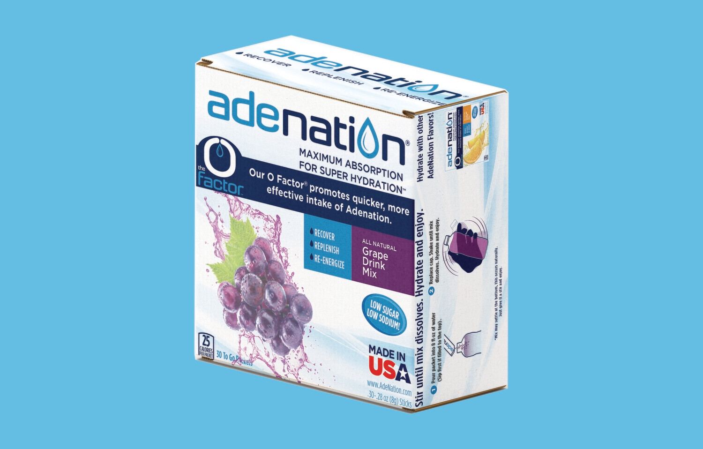 AdeNation® Maximum Hydration Sticks - Grape - 30 Count Box