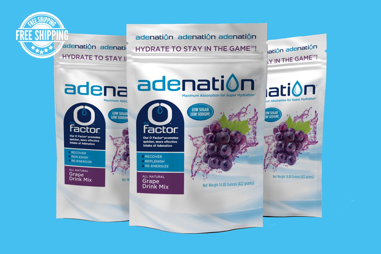 AdeNation® Hydration Grape Mix - Case of 15 Pouches