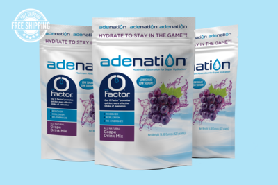 AdeNation® Hydration Grape Mix - Case of 15 Pouches