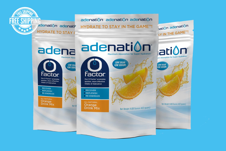 AdeNation® Hydration Orange Mix - Case of 15 Pouches