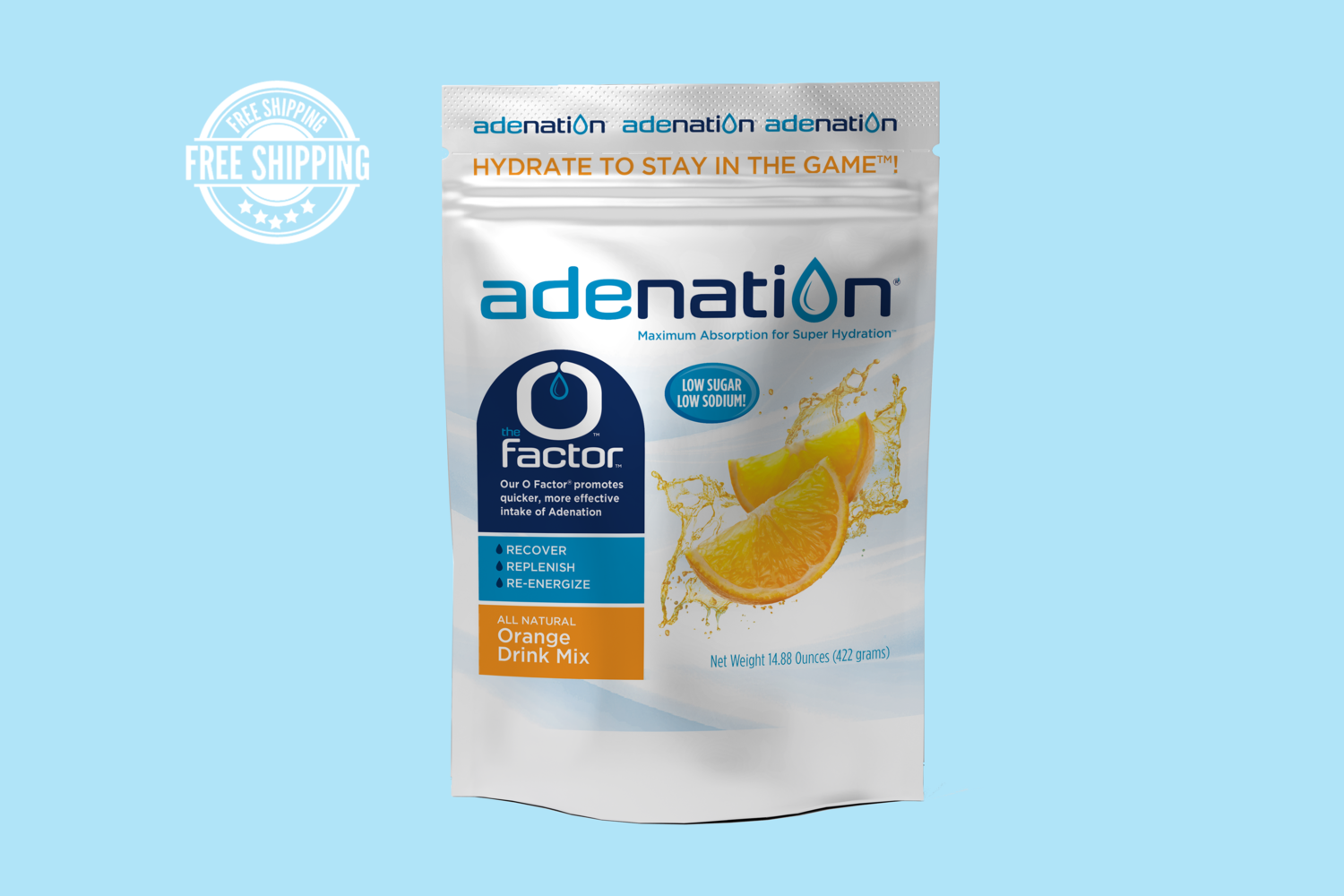 AdeNation® Hydration  Pouch - Orange