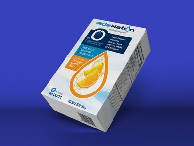 AdeNation® Hydration Sticks - Orange - Case of Eight 8-count boxes