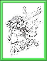 Fairy Child digi stamp Forget me not