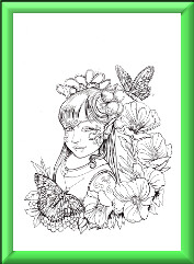 Fairy Children Digi Stamp 2