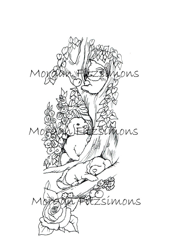 Puppies and Kittens Digi Stamp