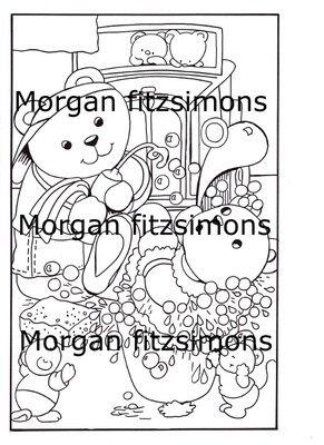 Morgan`s Teddy world  Digi Stamp 1