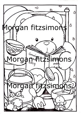 Morgan`s Teddy world  Digi Stamp 2