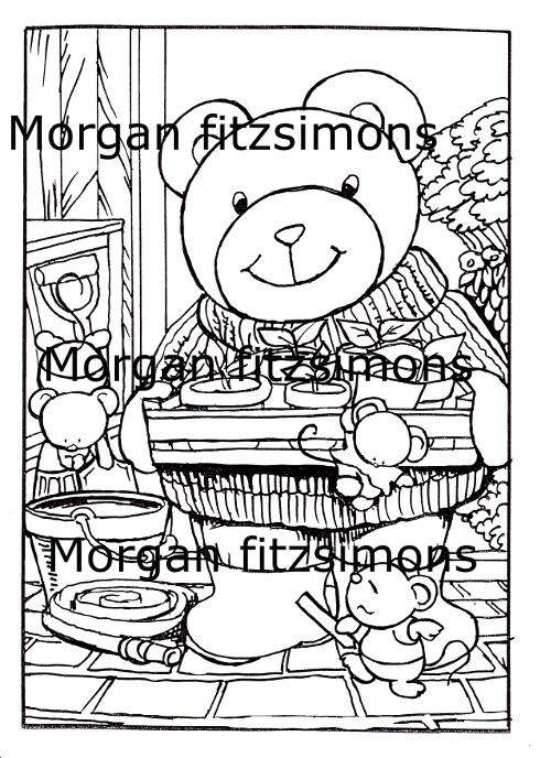 Morgan`s Teddy world  Digi Stamp 4