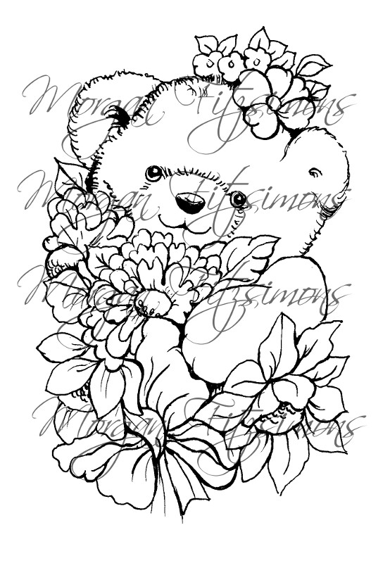 Morgan`s Teddy world  Digi Stamp 5