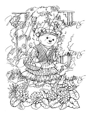 Morgan`s Teddy world  Digi Stamp 6