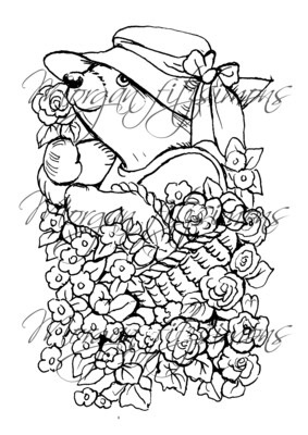 Morgan`s Teddy world  Digi Stamp 7
