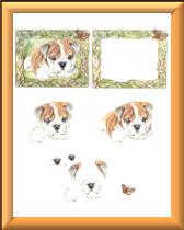 3D Bulldog Puppy sheet