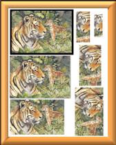 3D Tiger sheet 1
