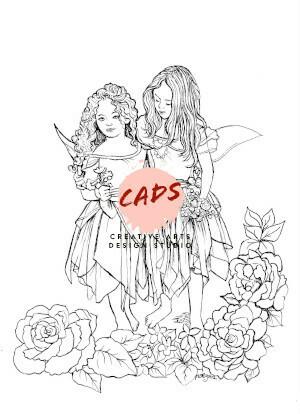 Fairy Children Digi Stamp 7