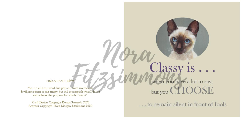 Classy Siamese Cat - Faith Card