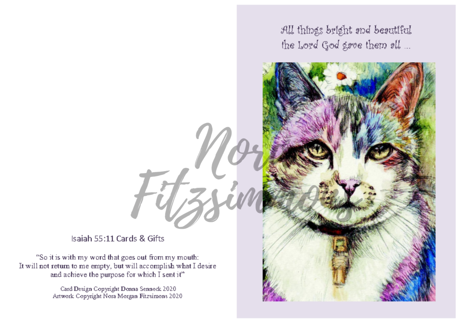 All Things Bright And Beautiful - Faith Card