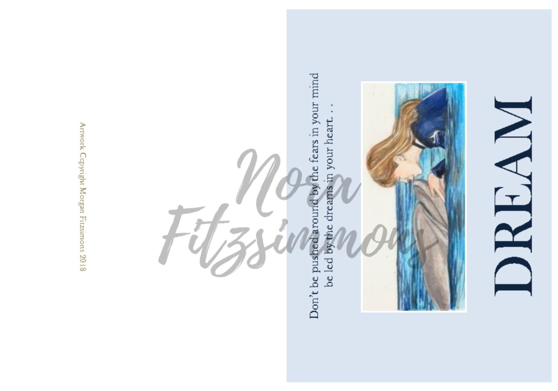 Dreams Dolphin And Girl 2 - Faith Card