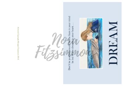 Dreams Dolphin And Girl - Faith Card