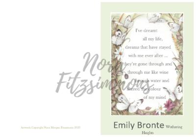 Butterfly Border - Faith Card