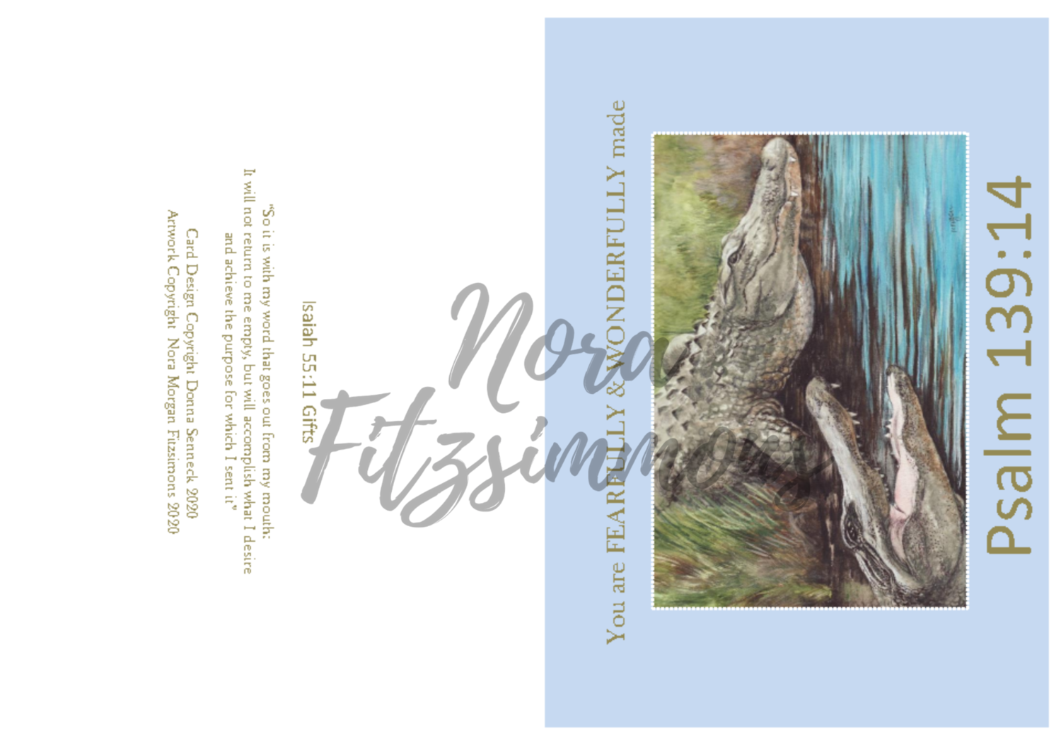 Fearfully Made - Alligators - Faith Card