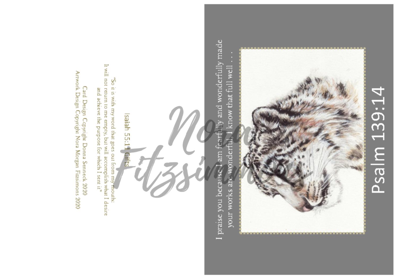 Fearfully Made Snow Leopard - Faith Card