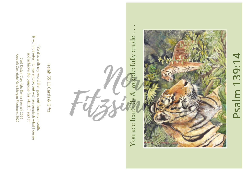 Fearfully Made Tigers - Faith Card