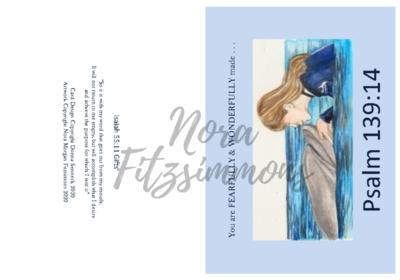 Fearfully Made Dolphin And Girl - Faith Card