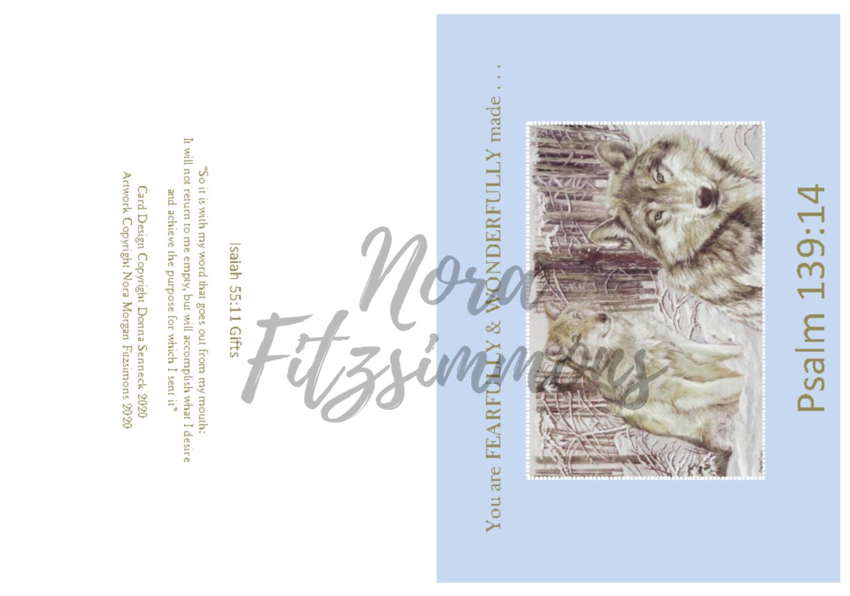 Fearfully Made Wolves - Faith Card