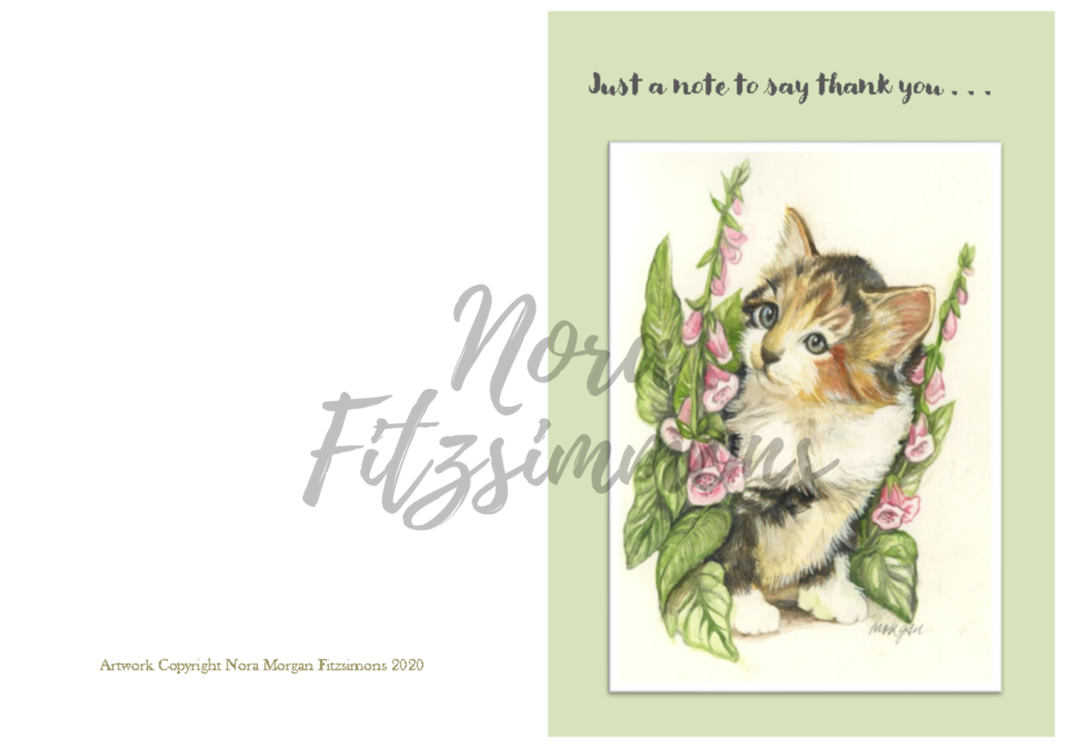 Just a note to say Thank You - Faith Card