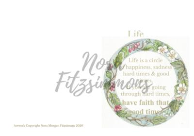 Life is a Circle - Faith Card