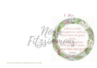 Life is a Circle (Pink Text) - Faith Card