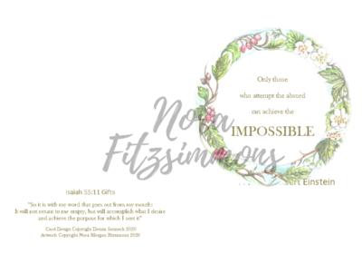 Achieve The Impossible - Faith Card