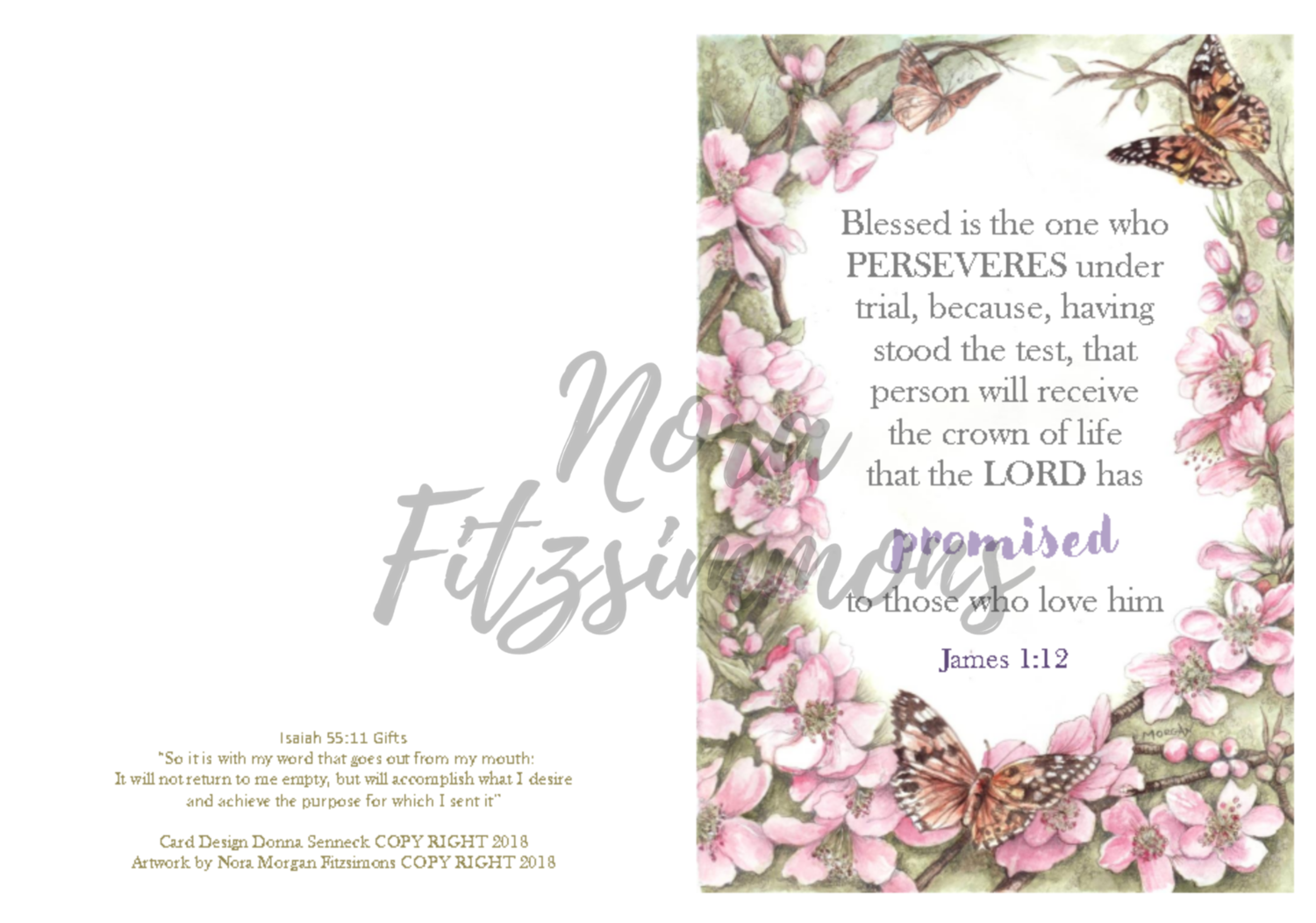 Blessed Is The One Who Perseveres - Faith Card
