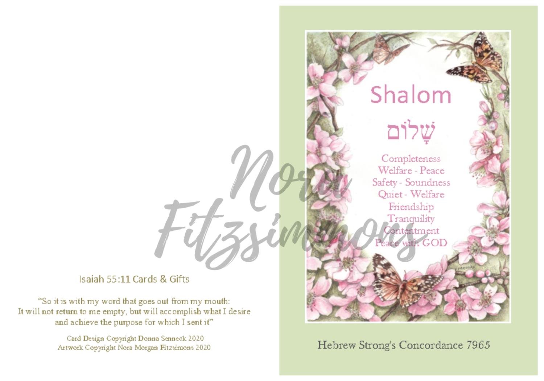Shalom - Butterfly Border - Faith Card