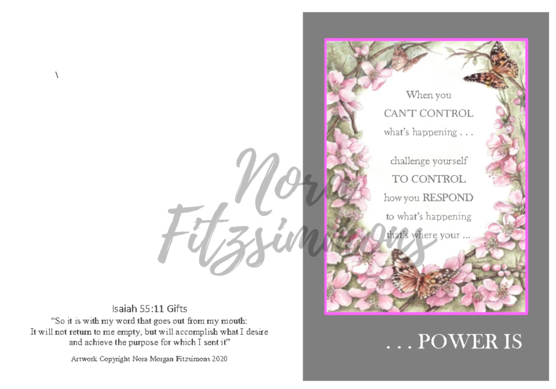 When You Can't Control - Faith Card