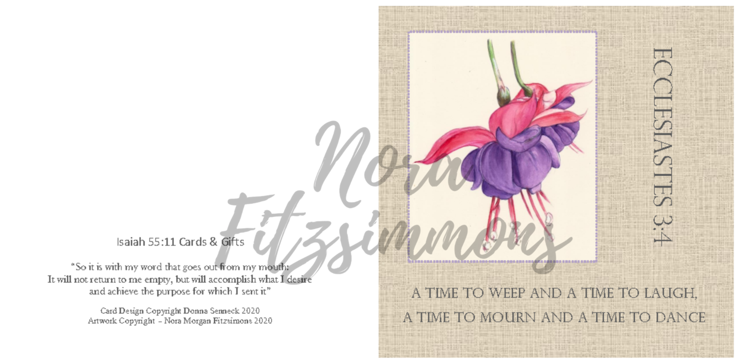 A Time to Weep, Laugh, Mourn and Dance - Faith Card