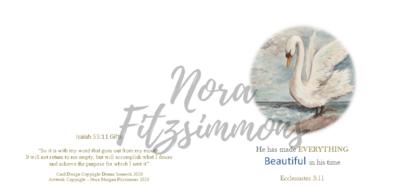 Beautiful In His Time Swan - Faith Card