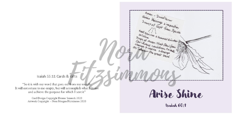 Arise Shine Clematis - Faith Card