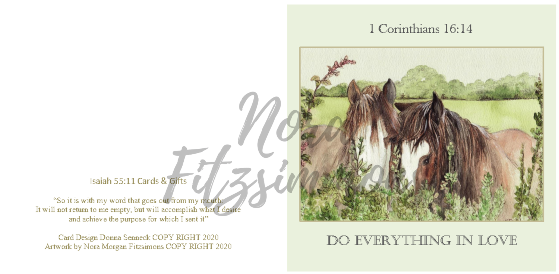 Do Everything In Love - Faith Card