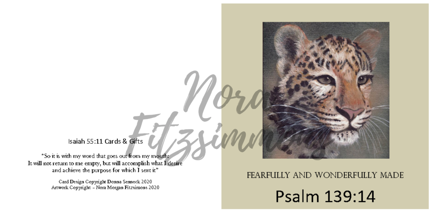 Fearfully And Wonderfully Made Wild Cat - Faith Card