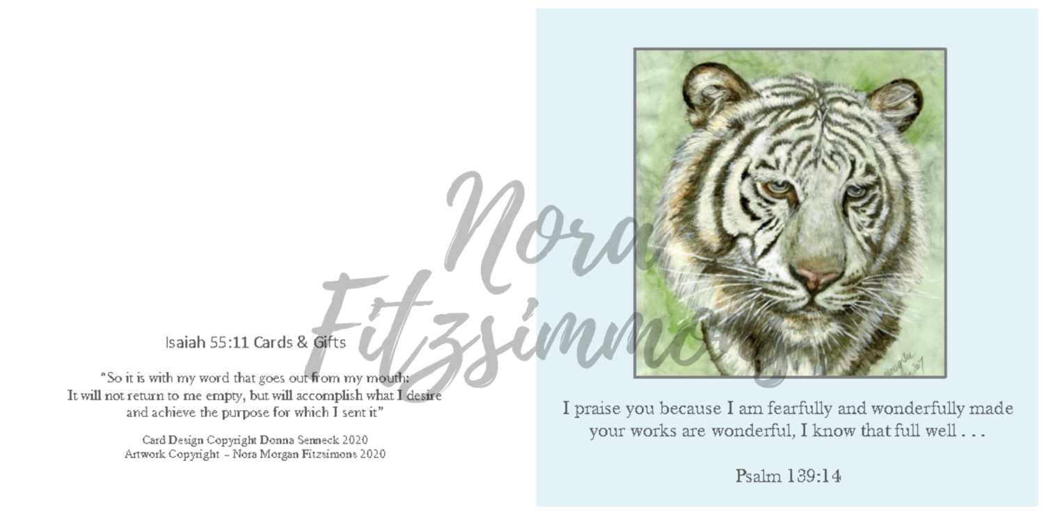 Fearfully And Wonderfully Made Tiger Sad - Faith Card
