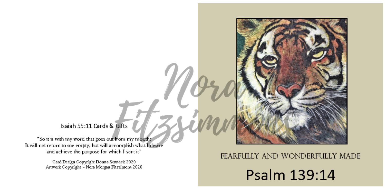 Fearfully And Wonderfully Made Tiger - Faith Card